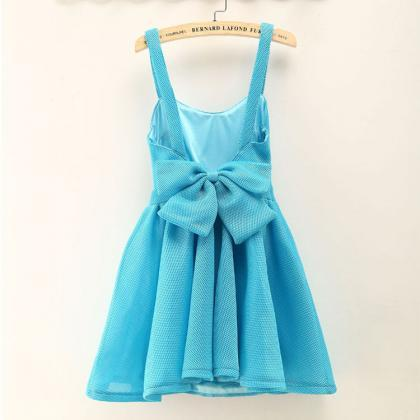 Fashion Halter Big Bow Sleeveless P..