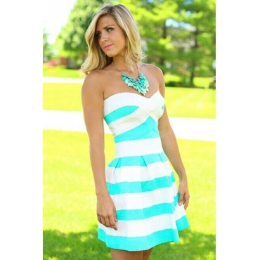 Cute And Sexy Striped Off Shoulder ..