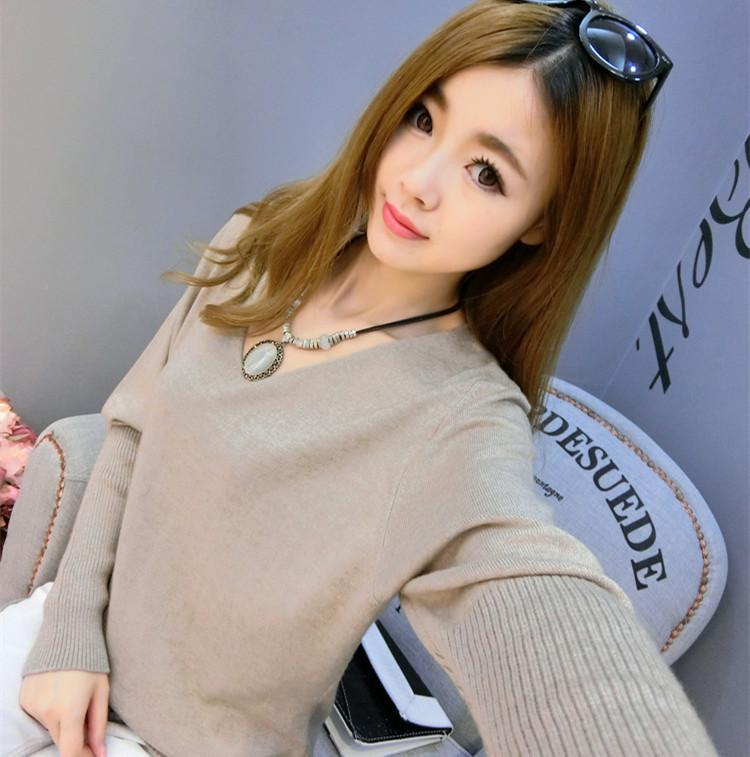 Fashion Women Long Sleeve V Neck Casual Thin Tops Shirt Blouse Pullover Knitted