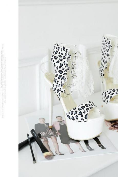 Stiletto Heels Women Spring Fashion Stylish Leopard Print