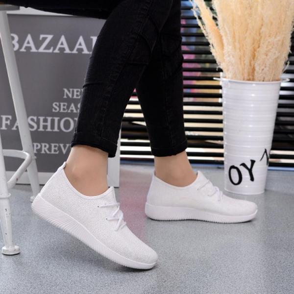 Sneakers Women Casual Solid Lace Up Candy Color