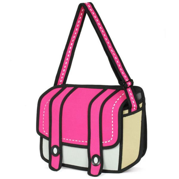 Cute Cartoon Caricature Messenger Bag