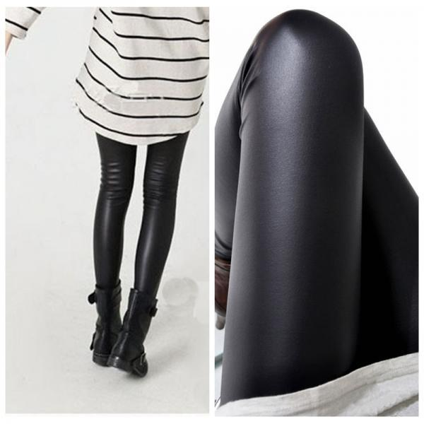 Women black leggings High elasticity sexy pants faux leather high quality slim leggings